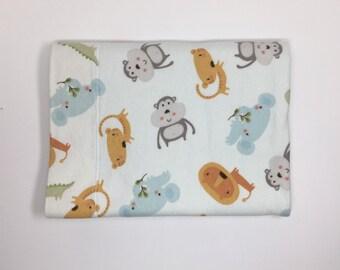 Baby Receiving Blanket Zoo Animals - Reversible