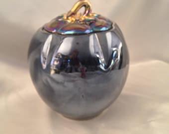Luster Ware Purple Iridescent Tomato/Vintage Lusterware Purple Pumpkin/Tomato Cookie Jar/Pumpkin Cookie Jar