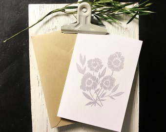 Peony Note Cards [Lavender] 10pk