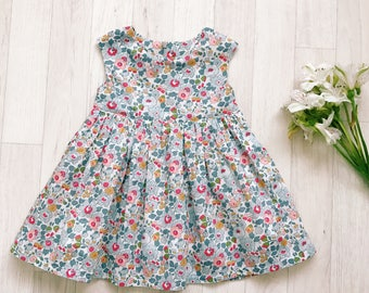 ALICE Handmade Liberty of London Print Girls Party Bridesmaid Flowergirl Dress