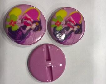 Winx lilac button