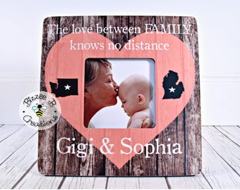 ON SALE Long Distance Family Picture Frame, The Love Between Family, Grandma Granddaughter, Long Distance Relationship, Grandma Nana GiGi
