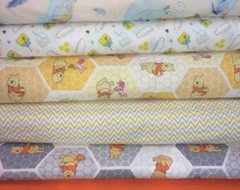 Winnie the Pooh Fat Quarter Bundle - 6 prints