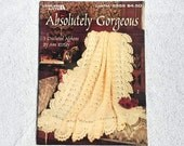 Vintage Afghan Leaflet 2559 Leisure Arts Absolutely Gorgeous 3 Crocheted Afghans 1994