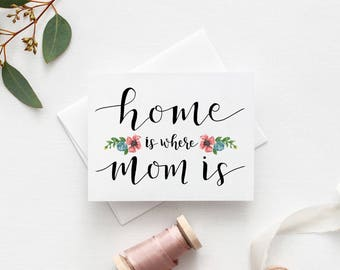 Greeting Card - Mothers Day - Home is Where Mom Is
