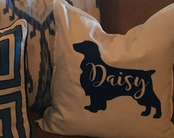 Personalized Dog Pillow Cover