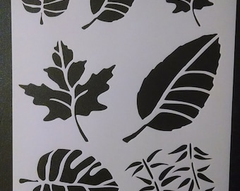 Leaf Leaves Branch Nature Multiple Custom Stencil FAST FREE SHIPPING