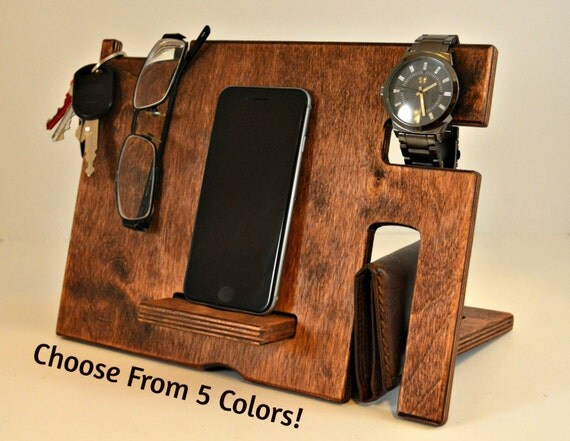 Wood phone stand dock wooden by