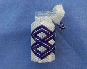 Beaded White, Dark Purple, and Lavender Sachet Bottle