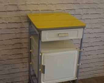 Vintage Metal Bedside Cabinet 1970'