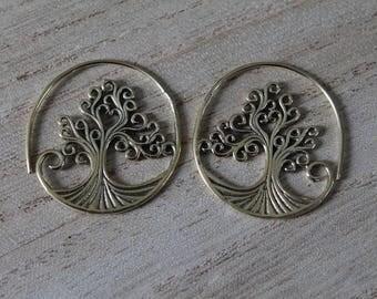 Pair of three of life earrings
