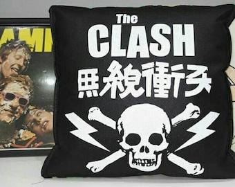 The CLASH leopard print CUSHION punk rock