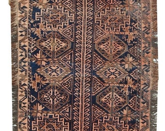 ON SALE 20% Off 2.2' X 5.8' ( 68cm X 179cm) hand made antique Afghan Baluch rug 1900