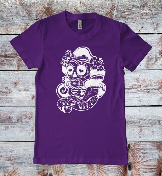 Sugar skull t shirt day of the dead skull for her dia for Sugar custom t shirts