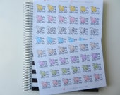 Yay For Hump Day! - set of 48 stickers perfect for Erin Condren Life Planner, Happy Planner, Kikki K or Filofax Planner