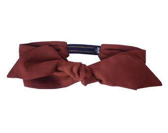 Headband Suzie - Taffeta Fabric Headband, Made in Paris Headband, Retro Headband, Rust Color Headband, All Seasons Headband, Made in Paris