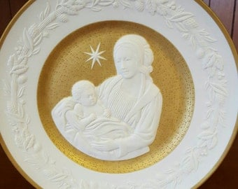 1976 Franklin Porcelain Collectible Silent Night Plate
