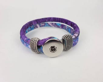 Leather Bracelet for Snap Beads