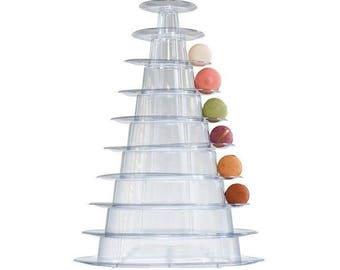 2 x 10 Tier French Macaron Display Tower