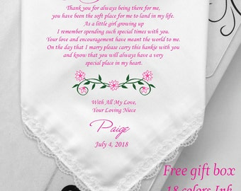 Unique Wedding Gifts For Niece : For My Aunt From Niece-Best Idea Wedding Gifts-Aunt Of Bride-Printed ...