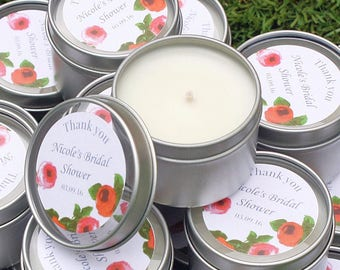 Personalised Candle Tins with Luxury Window Lid