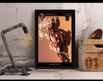Wall Art Prints, Printable Art, Printables Digital Prints, download print, Fantasy art print, homedecor wall art, illustration art,
