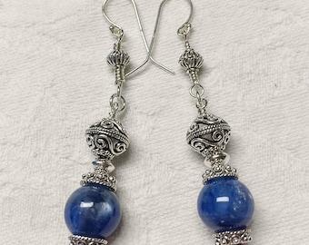 Kyanite and .925 Sterling Silver Earrings