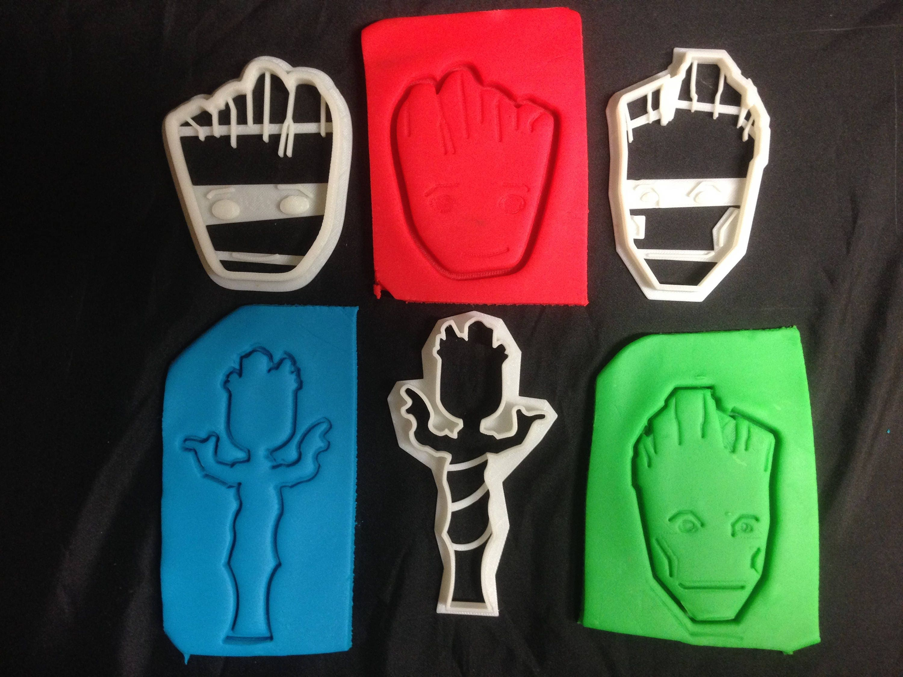 Zsonglor robot 5 labdaval 163 - Guardians Of The Galaxy Baby Kid Adult Groot Outline Cookie Cutter