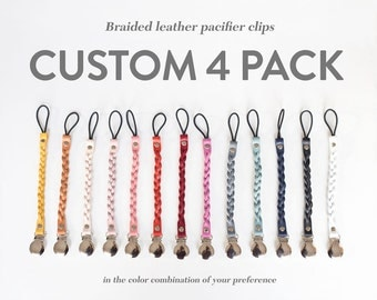 Custom Color Pack of 4 Passy Clips