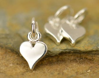 Sterling Silver, Tiny Heart Charm, Tiny Heart, Silver Tiny Heart, Heart Charm, Silver Heart Charm, Heart Jewelry, Love Charm, Silver Love