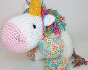 Unicorn crochet doll
