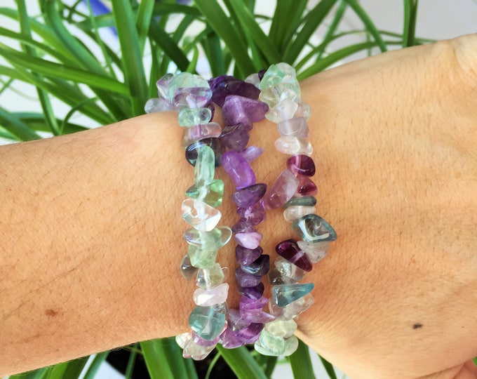 Gifts for Employees Crown Chakra Bracelet SET infused w/ Reiki/ Bracelet Stack/ Healing Crystal Jewelry