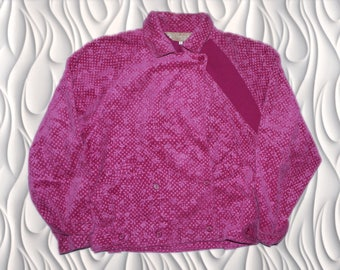 90's CHRISTIAN DIOR SPORTS - Large (Femme) - Purple Floral Print Corduroy Jacket