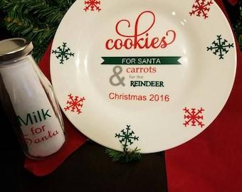 Cookies santa plate