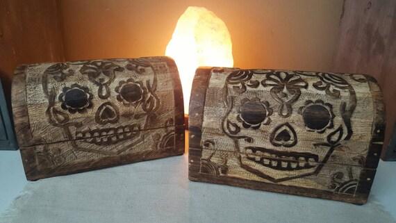 Sugar Skull Chest // Jewelry Box  // Gift // Storage