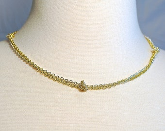 Gold and silver knotted chain necklace