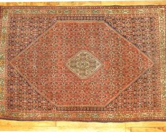 Antique Persian Bidjar Rug Size 3'9''x5'7''