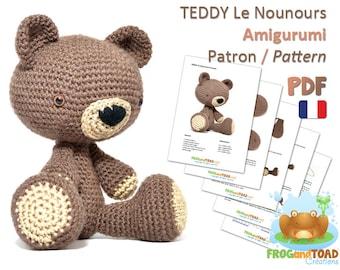 Amigurumi Crochet Nounours Patron - PDF Français