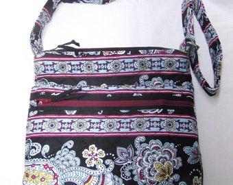 Handmade Quilted Crossbody Purse, adjustable strap, crossbody bag, shoulder bag
