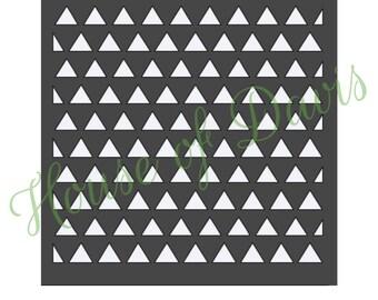 Triangles Stencil - 12x12