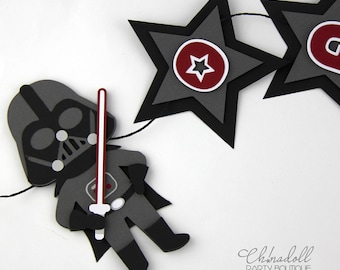 star wars party bunting   darth vader party banner personalised with name