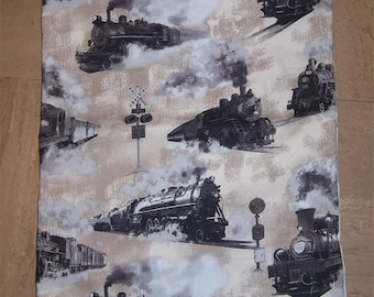 Steam Train Pillow Case / Cushion Cover