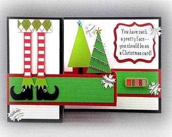 Handmade Elf  Holiday Card 2
