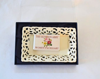 Vintage Salvation Army Women's Auxiliary Soap Dish With Soap In It's Original Packaging New In Box