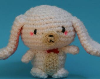 Crochet Bunny, Hello Kitty, Sugarbunnies, Amigurumi, Cute, Easter, Knit