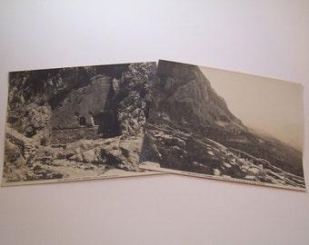 1900 antique original Alinari photos of Delphi, Greece - The Gymnasium, Mount Helicon and the Castalian Spring