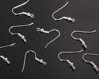 400PCS French Hook Earrings Stainless Steel,Ear Hook ,French Earring Wire,Earwires,Earring Components, Ball Coil Earrings