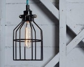INDUSTRIAL LIGHT CAGE bulb cover. contemporary, minimalist lighting. 3 finishes. Free post!
