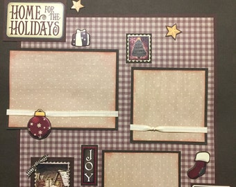 CHRISTMAS JOY Premade 12x12 scrapbook page