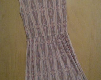 70s/80s Sheer Paisley Pleated Dress by Polly Seeds